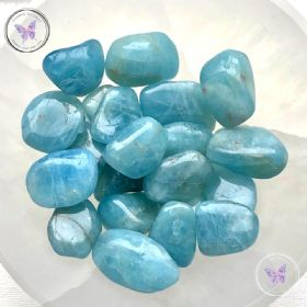 Blue Aquamarine Tumble Stone